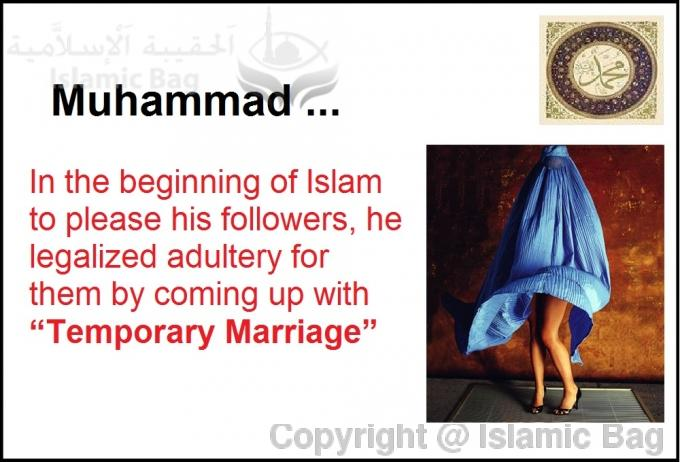 To satisfy his friends sexual urges Muhammad invented pleasure marriage in Surah 4:24