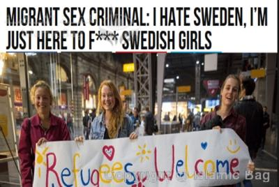 POETIC JUSTICE for two Muslim-sympathizing, bleeding heart Swedish feminazis