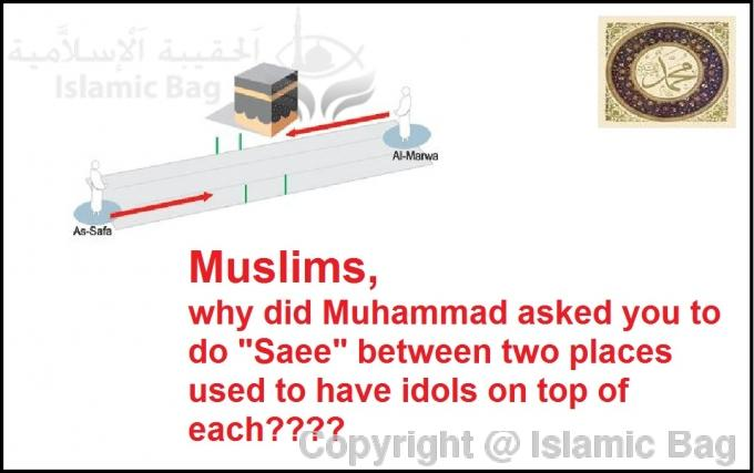 As-Safa and al-Marwah were idols but Muhammad made them part of Hajj rituals