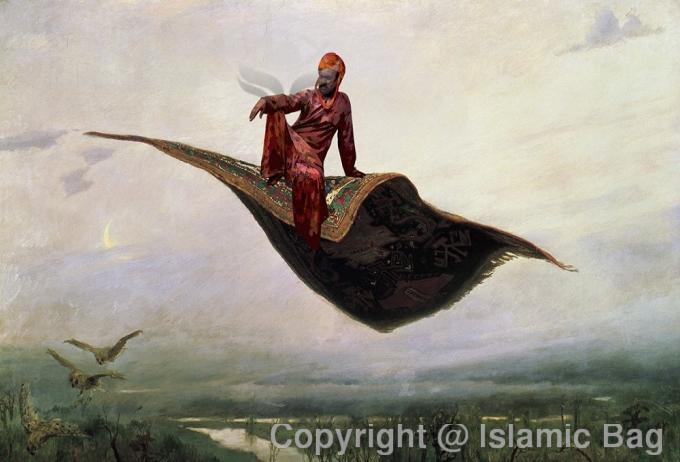 A scandel of Quranic scale, according to Quran King Solomon is a sinbad who has a flying carpet